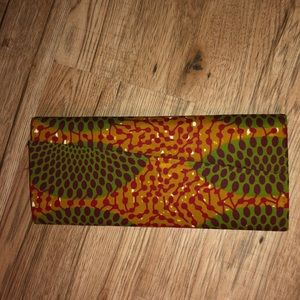 NWOT African print clutch